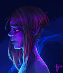 Neon elf girl by Rigrena