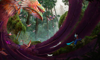 Concept art - Fantasy landscape