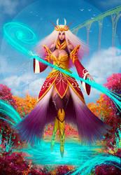 Concept of a sorceress