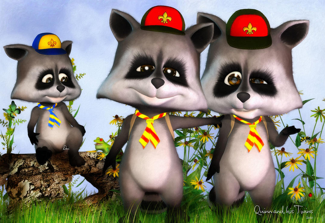 Quinn and His Twins by Dani3D