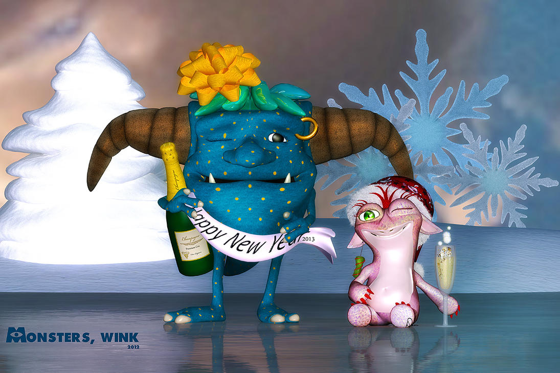 Monsters, Wink by Dani3D