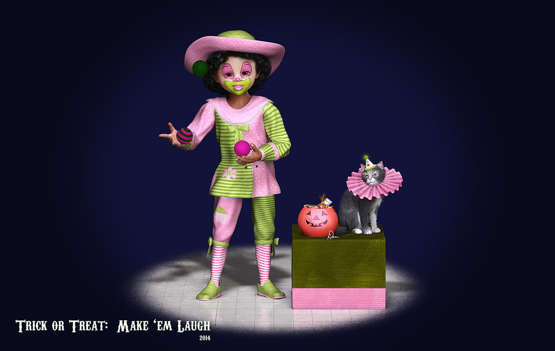 Trick or Treat:  Make 'Em Laugh by Dani3D