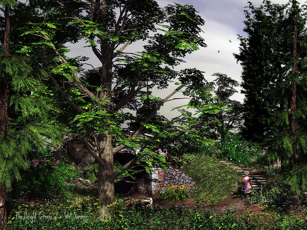 The Bright Greens of a Wet Summer by Dani3D
