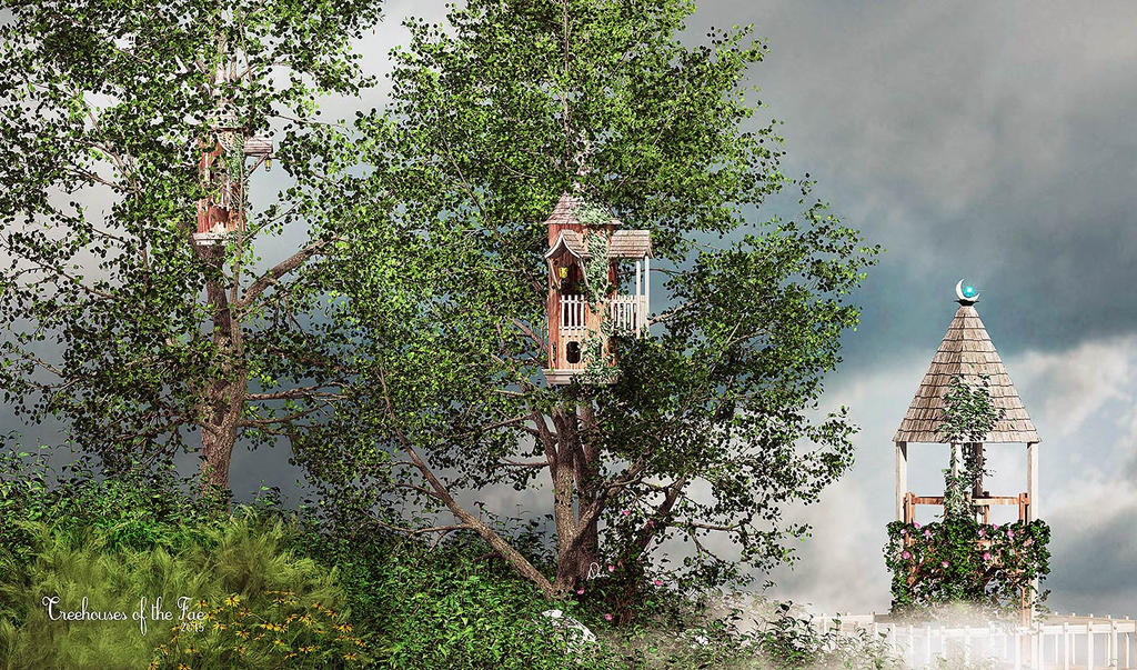 Treehouses of the Fae by Dani3D