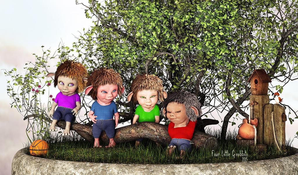Four Little Gnobbits by Dani3D