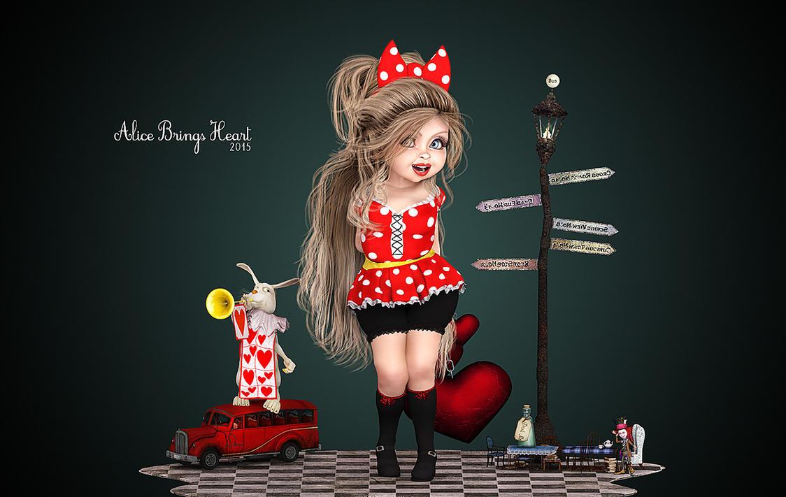 Alice Brings Heart by Dani3D