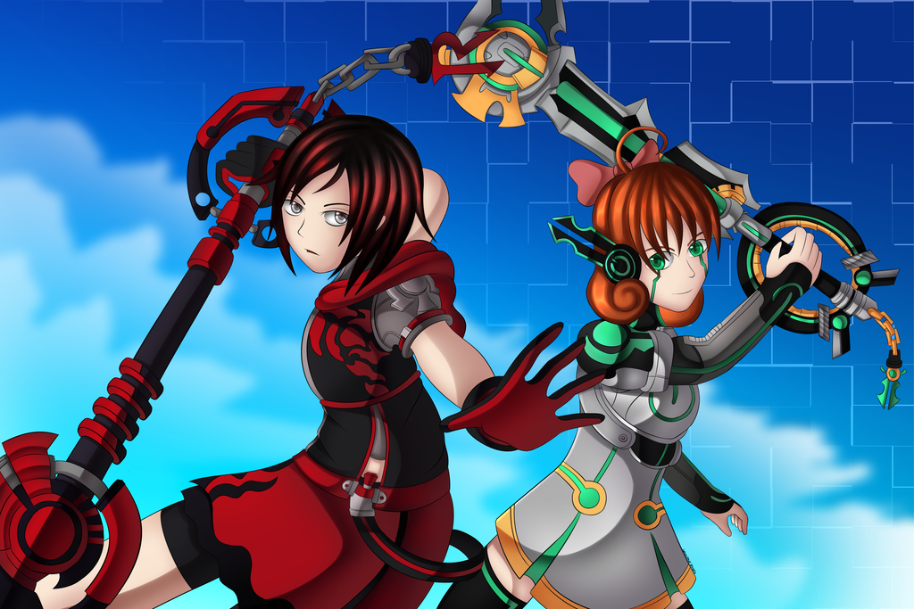 ruby and penny crossover kingdom hearts by colleenekat on deviantart