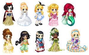 AngelPrincessSunshine's Disney Princess Tekteks