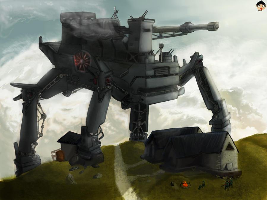 Tank concept art: Panzer-kafer prototype by gudikano