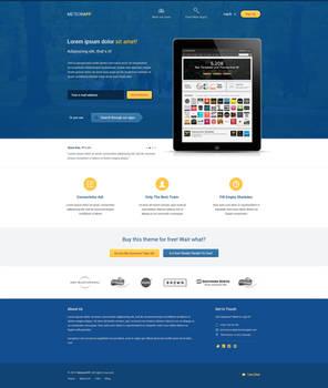 MeteorApp - Free PSD Template