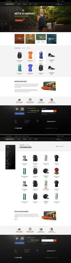 Sport eCommerce website