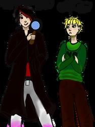 Daemon  Holmes and Shoji Watson by Himi-Akasoul