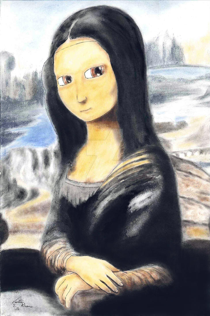 Anime Mona Lisa by VictorKGarcia