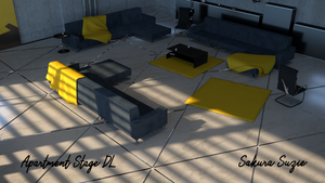Apartment Stage DL for MMD ***updated***