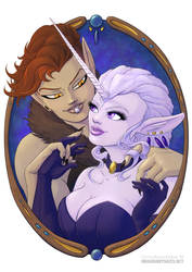Vignette 4: an official Portrait of Nyx+Nyssa by chalcara