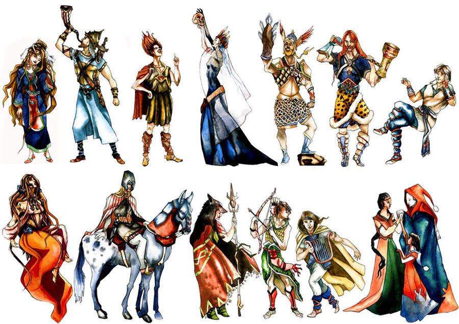 Norse Gods by floriflore
