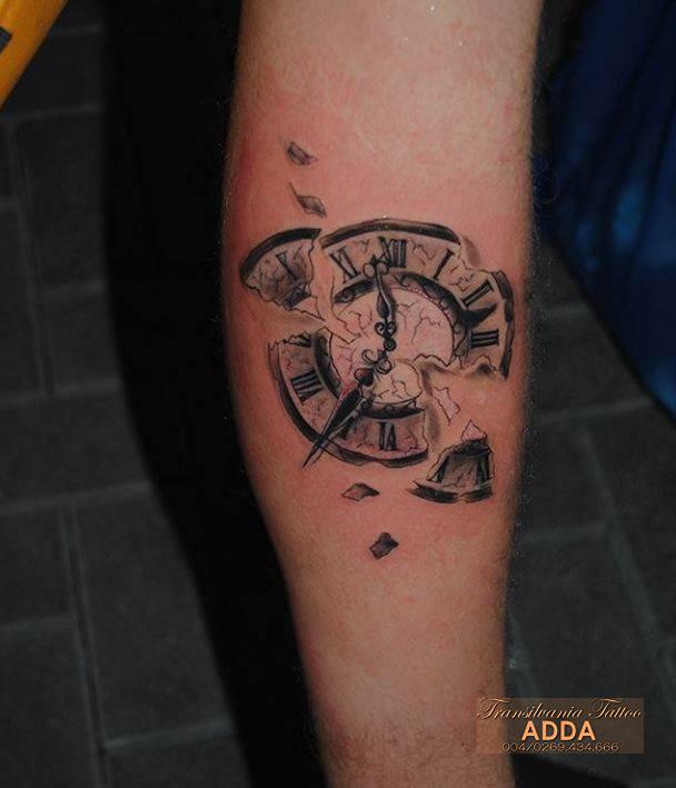 Clock Tattoo by Adda by transilvaniatattoo66