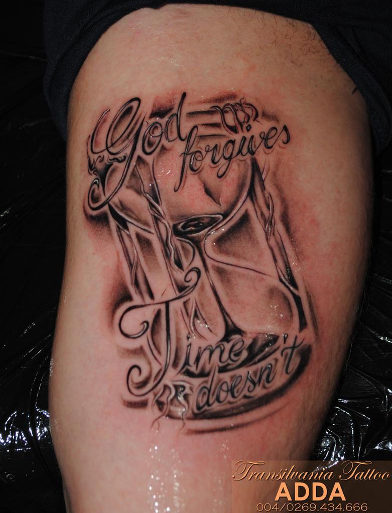 hourglass tattoo by adda by transilvaniatattoo66 on deviantart. Black Bedroom Furniture Sets. Home Design Ideas