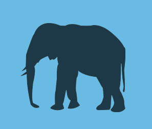Elephant Vector by joanna5549