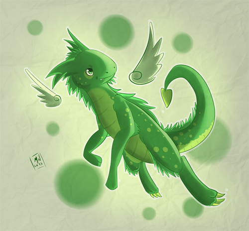 quick drawing mini dragon by marcellenneppel