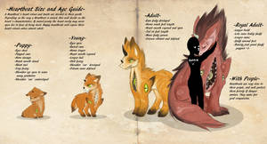 Heartbeat size and age guide by MintHeartAdopts