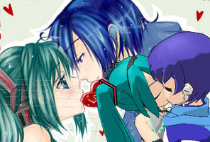 kaito x miku by heartbreaker999