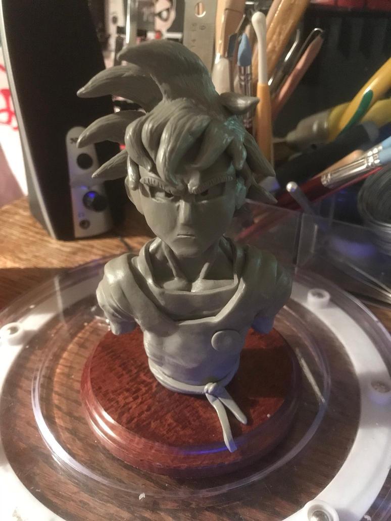 Dragonball - Goku Bust by CultureSculpts