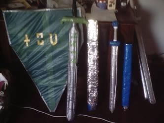 Finished kite shield + swords