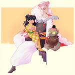 Sesshomaru and co by bebebean
