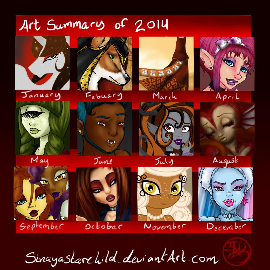 Art Summery of 2014 by SinayaStarChild