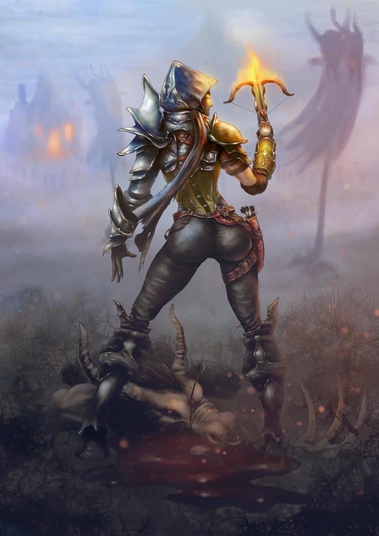 Demon Hunter FanArt - Diablo III by CarneroArt