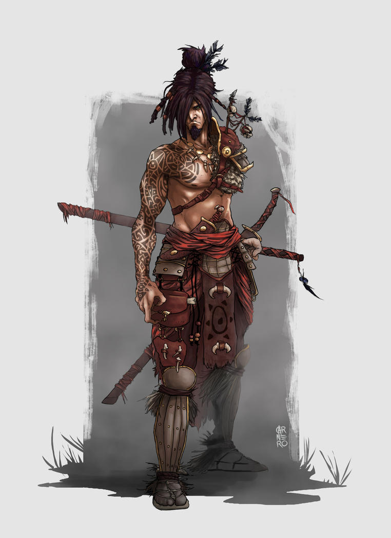 Tribal Samurai by CarneroArt