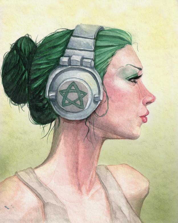 Headphones by macarena