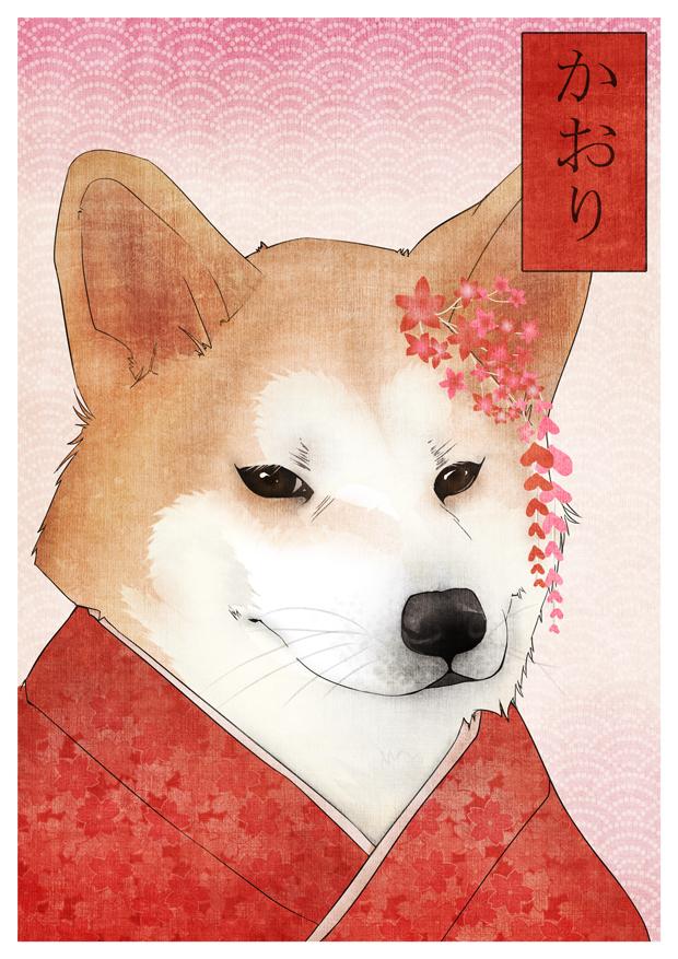 Akita inu Kaori-chan by macarena