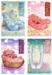 Lolita shoes' postcards