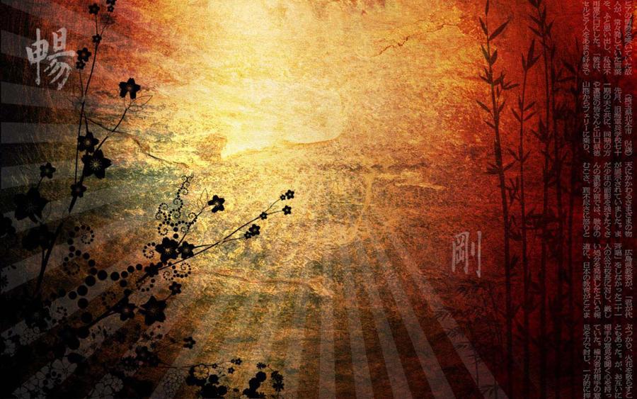 Asian wallpaper by ayinah on deviantart for Oriental wallpaper