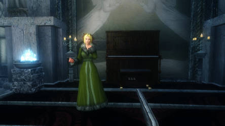 Helena Douglas in Skyrim in the MSX Cathedral by Norsalam