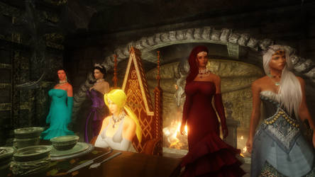 Helena Birthday in Skyrim at Violeta's Hill House by Norsalam
