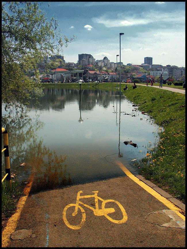 Bike on the water 2 by Srboraa