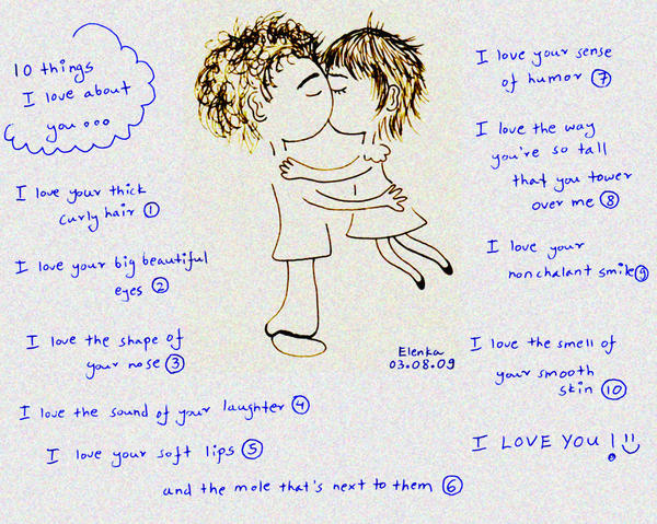 Things I Like About You: 10 Things I Love About You... By Bebesushii On DeviantArt