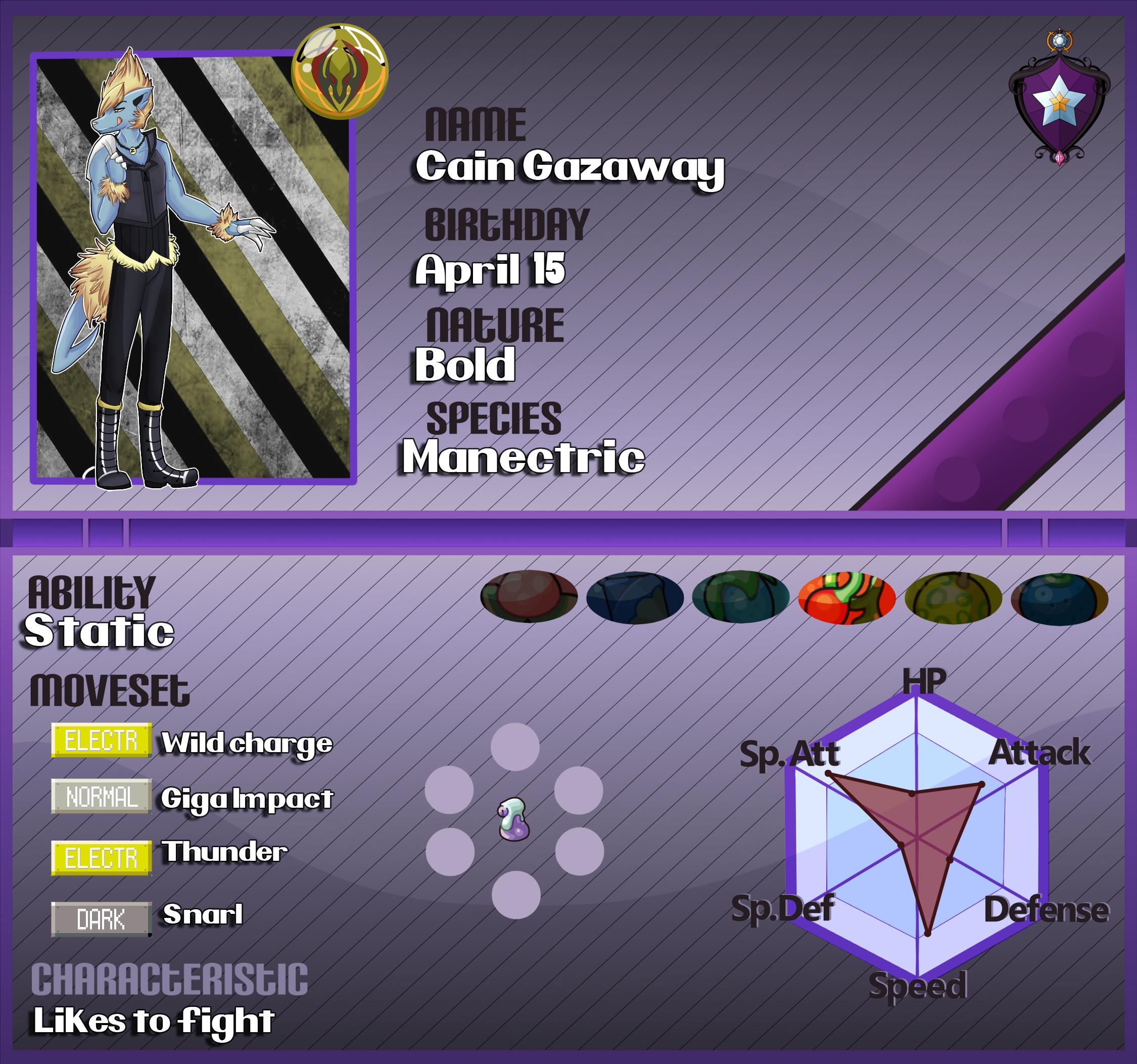 PKMN ARMONIA: CAIN by lord-stardustt
