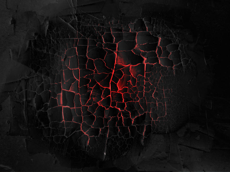 Burning Black Cracked Yogurt - texture by Black-B-o-x