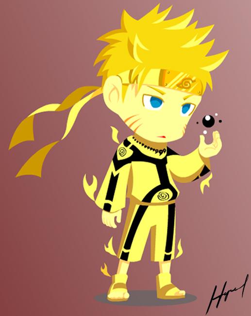 Chibi Naruto: Kyuubi Chakra Mode by hyrel200 on DeviantArt