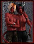 Twice As Red by LukaSkullard