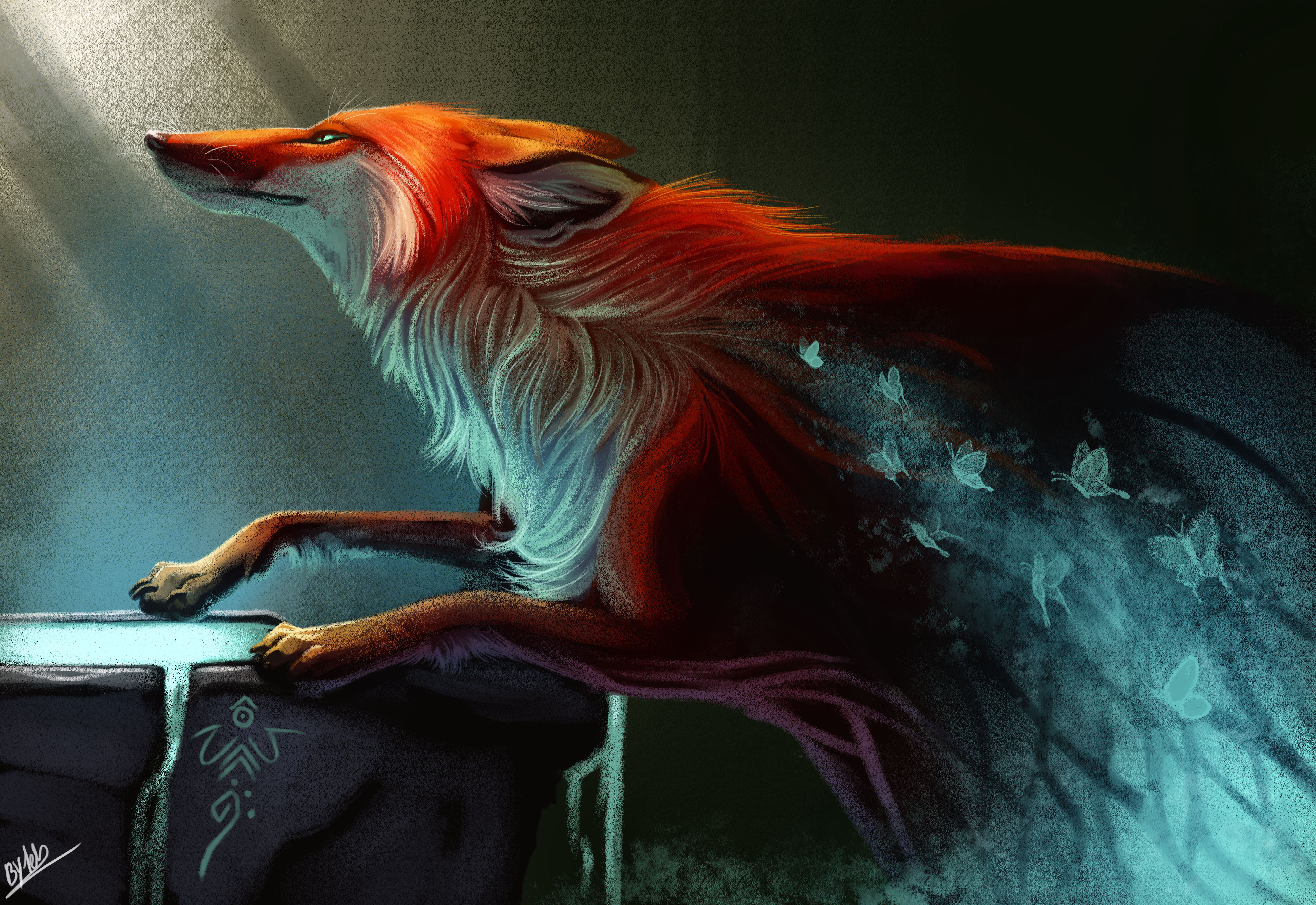 Fox Spirit By Tehchan On Deviantart