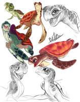 Sea Turtles by TehChan