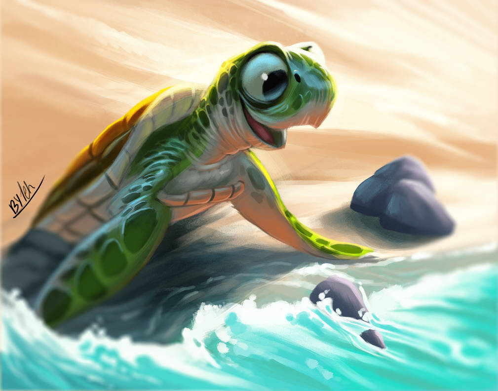 Baby Turtle by TehChan