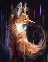 Maned Wolf by TehChan
