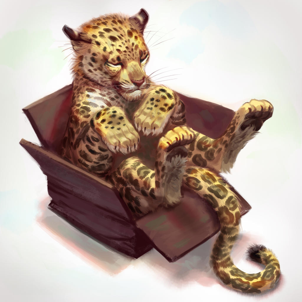 Cat in a Box- Painted