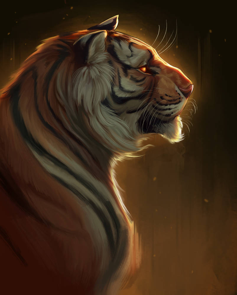 Tiger - painting warm up by TehChan